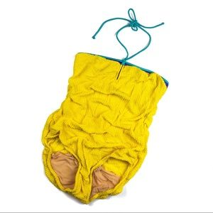 Vintage E-Stewart Lemon Yellow One Piece Swimsuit
